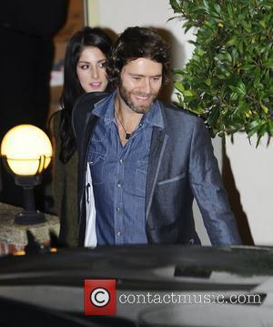 Howard Donald of Take That with Katie Halil at X Factor Fountain Sudios. London, England - 04.12.11,
