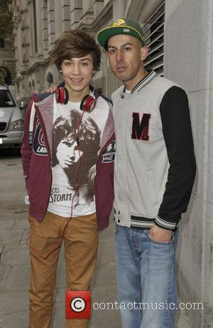 George Shelley of Union J The X Factor finalists outside their hotel London, England - 16.10.12