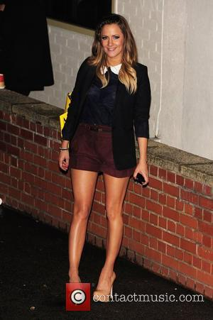 Caroline Flack 'The X Factor' judges, finalists and guests depart the show's studios after the live results show London, England...