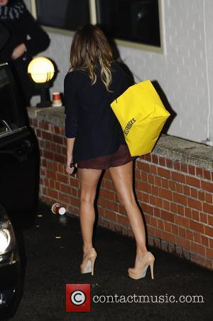 Caroline Flack leaving X Factor Fountain Sudios. London, England - 04.12.11,