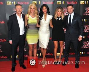 Louis Walsh, Caroline Flack, Nicole Scherzinger and Tulisa Contostavlos