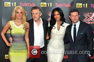 Louis Walsh, Nicole Scherzinger and Tulisa Contostavlos
