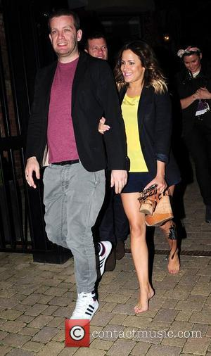 Caroline Flack walking barefoot,  'The X Factor' judges and hosts at their hotel  Newcastle, England - 18.06.12