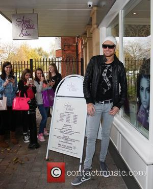 X Factor' contestant Rylan Clark arrives at Amy Childs salon in Brentwood Essex, England - 31.10.12