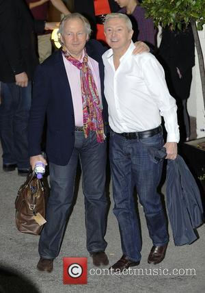 Richard Holloway and Louis Walsh leaving the X Factor at Fountain Studios. London, England - 14.10.12