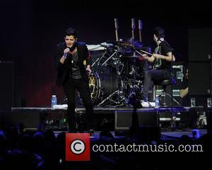 Danny O'Donoghue of The Script performing live at the  Y100 Jingle Ball at the Bank Atlantic Center. Sunrise, Florida...