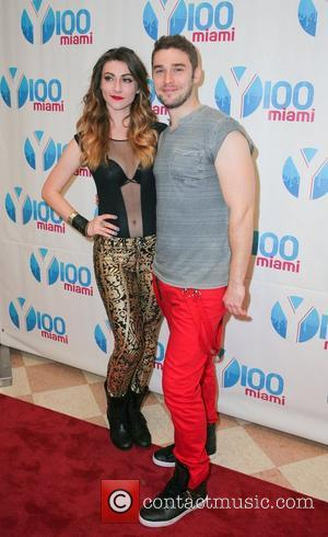 Amy Heidemann and Nick Noonan of Karmin  Y100's Jingle Ball 2012 at the BB&T Center - Arrivals Miami, Florida...