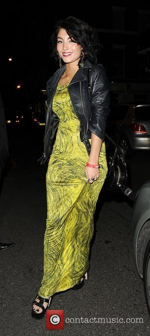 Yasmin aka Yasmin Sharmir, arriving back at her hotel. London, England - 22.02.12