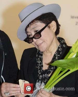 Yoko Ono visits her interactive art installation entitled 'Wish Tree For Ireland' created on behalf of the Make A Wish...