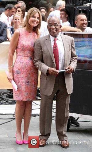 Savannah Guthrie and Al Roker at Rockefeller Center for the 'Today' show's concert series New York City, USA - 13.07.12