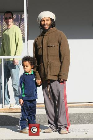 Ziggy Marley and his son out shopping at The Grove Los Angeles, California - 20.12.11