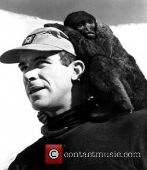 Paul Mantee and Mona the Monkee - Shown: Paul Mantee with Mona the Monkee - Wednesday 11th November 1964