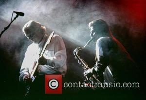 David Gilmour with Pink Floyd on their A Momentary Lapse of Reason World Tour in 1988 - Vienna, Austria -...