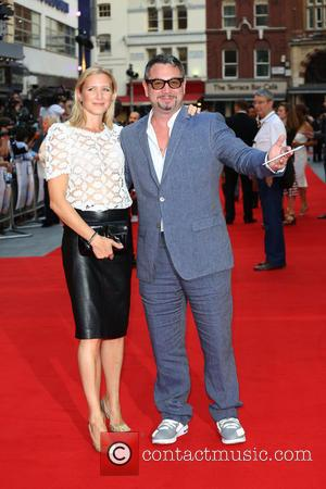 Huey Morgan and wife - Diana UK film premiere held at the Odeon Leicester Square - Arrivals - London, United...