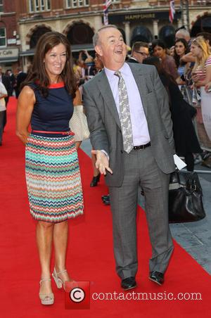 Ian Hislop and wife