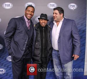 Michael Strahan, Tiki Barber and Tony Siragusa - 2013 Fox Sports Media Group Upfront After Party - Arrivals - New...