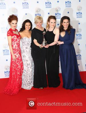 Paula Lane, Hayley Tamaddon, Julie Hesmondhalgh, Jennie Mcalpine, Debbie Rush and Coronation Street