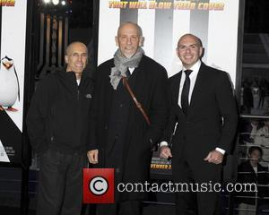 Jeffrey Katzenberg, John Malkovich and Pitbull