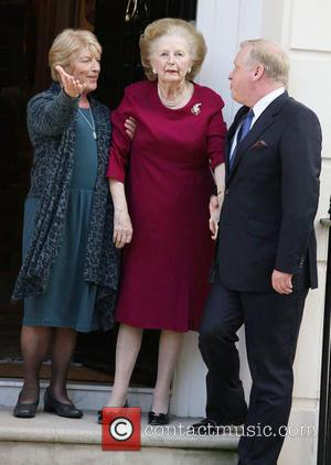 Margaret Thatcher - Baroness Margaret Thatcher outside her home
