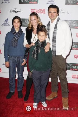 Natasha Henstridge, Darius Campbell and their Kids - 2012 Hollywood Christmas Parade Benefiting Marine Toys For Tots - Arrivals -...