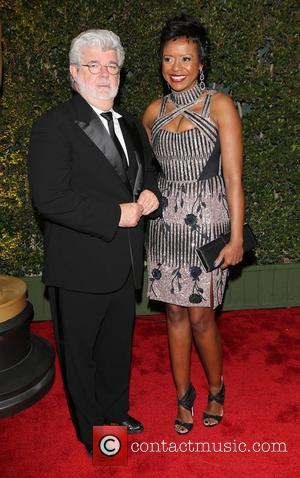 George Lucas and Mellody Hobson - The Academy of Motion Pictures Arts and Sciences' Governors Awards - Arrivals - Los...