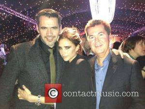 Roland Mouret, Victoria Beckham and Simon Fuller - credit: Victoria Beckham/Twitter - Wednesday 12th December 2012