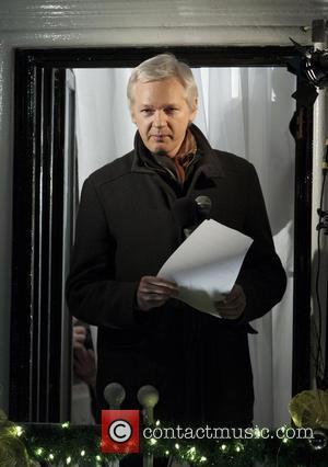 Julian Assange - Julian Assange WikiLeaks founder addresses a crowd from the Ecuadorian Embassy to mark six months since he...