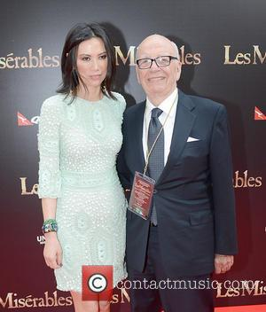 Rupert Murdoch and Wendy Murdoch - The Australian premiere of 'Les Miserables' at the State Theatre - Arrivals - Sydney,...