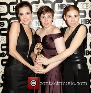 Allison Williams, Lena Dunham and Zosia Mamet - 2013 HBO's Golden Globes Party Beverly Hills California United States Sunday 13th...