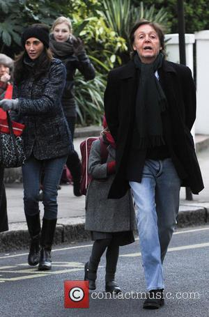 Paul McCartney, Nancy Shevell and Beatrice McCartney - Paul McCartney and family out and about in Notting Hill London United...