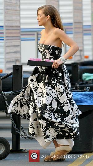 AnnaLynne McCord - Filming of 'Beverly Hills 90210' Los Angeles California USA Wednesday 16th January 2013