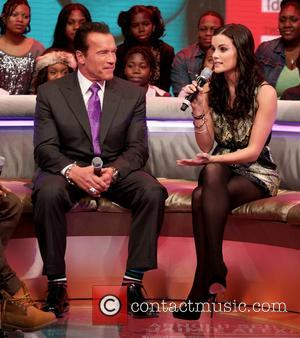 Arnold Schwarzenegger - Celebrities attend BET's 106 and Park Taping
