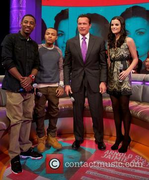 Shorty, Bow Wow, Arnold Schwarzenegger and Jaimie Alexander