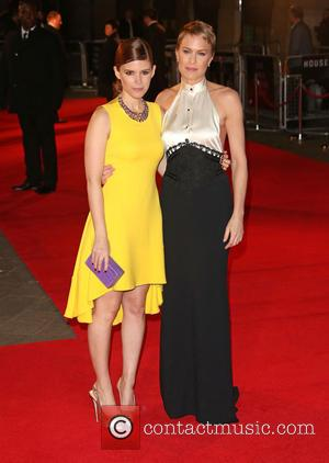 Robin Wright and Kate Mara - 'House of Cards' TV premiere held at Odeon London England Thursday 17th January 2013