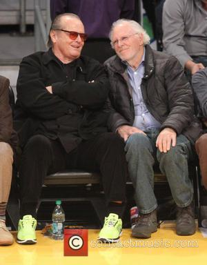 Jack Nicholson and Bruce Dern - Celebrities at the Lakers game Los Angeles California United States Thursday 17th January 2013
