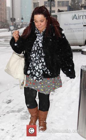Lisa Riley - Strictly stars leave their hotel Birmingham United Kingdom Friday 18th January 2013