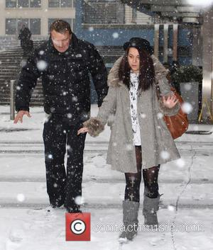 Phil Tufnell and Dani Harmer - Strictly stars leave their hotel Birmingham United Kingdom Friday 18th January 2013