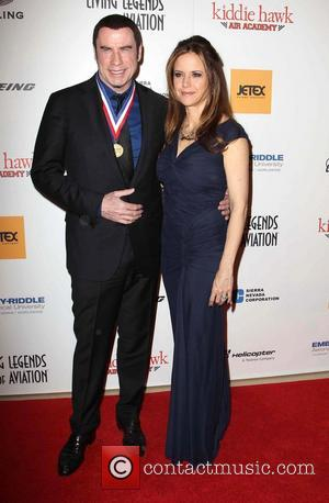 John Travolta and Kelly Preston - 10th Annual Living Legends of Aviation Awards Los Angeles California United States Friday 18th...