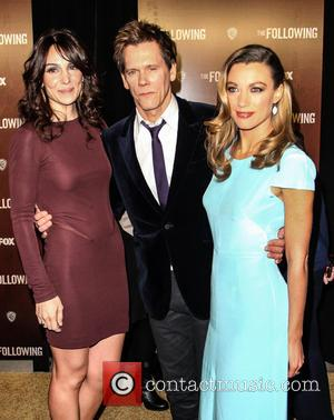 Annie Parisse, Kevin Bacon and Natalie Zea - The New York premiere of 'The Following' New York United States Friday...
