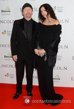 The Edge and Morleigh Steinberg - European Premiere of 'Lincoln' Dublin Ireland Sunday 20th January 2013