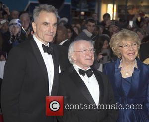 Daniel Day Lewis, Michael D Higgins and Sabina Coyle