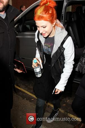 Hayley Williams - Paramore arrievs at the Kiss FM studios London England Tuesday 22nd January 2013