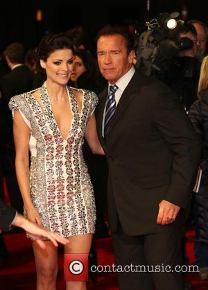 Jaimie Alexander and Arnold Schwarzenegger - 'The Last Stand' UK film premiere London United Kingdom Tuesday 22nd January 2013
