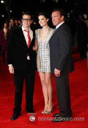 Johnny Knoxville, Jaimie Alexander and Arnold Schwarzenegger - 'The Last Stand' UK film premiere London United Kingdom Tuesday 22nd January...