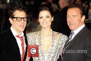 Johnny Knoxville, Jaimie Alexander and Arnold Schwarzenegger