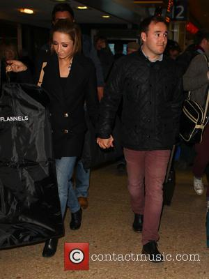 Alan Halsall and Lucy Jo Hudson - Celebrities arrive at Euston Station London United Kingdom Wednesday 23rd January 2013