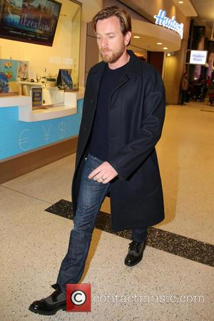 Ewan McGregor - Celebrities arriving at LAX airport Los Angeles California United States Wednesday 23rd January 2013