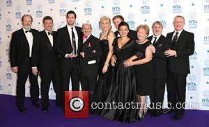 Brendan O'Carroll and Jennifer Gibney of Mrs Brown's Boys - National Television Awards - Press Room London United Kingdom Wednesday...