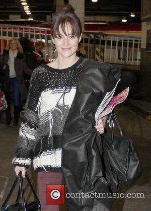 Paula Lane - Coronation Street leave via Euston Station London England United Kingdom Thursday 24th January 2013