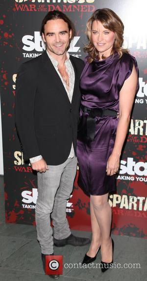 Dustin Clare and Lucy Lawless - Spartacus: War Of The Damned Premiere New York City NY USA Thursday 24th January...